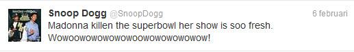 Snoop Dogg over Madonna haar Superbowl optreden