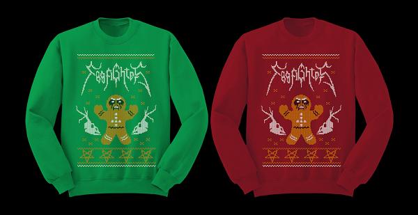 foo fighters kerstmis truien