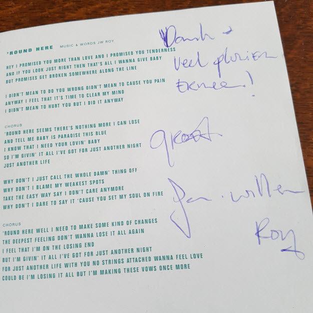 JW Roy handtekening